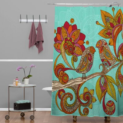 Deepak Hello Birds Extra Long Shower Curtain
