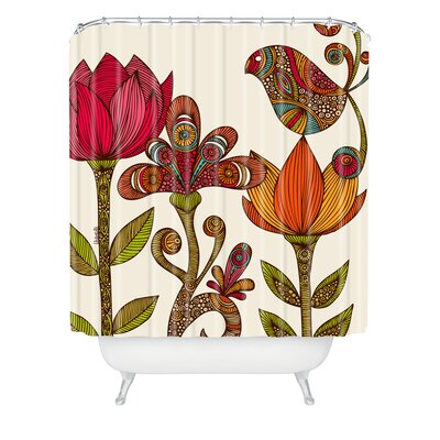 Deepak The Garden Extra Long Shower Curtain