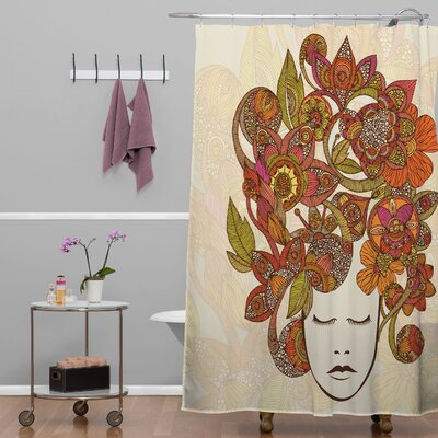 Deepak Its All In Your Head Extra Long Shower Curtain