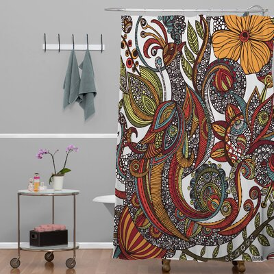 Deepak Paradise Bird Extra Long Shower Curtain