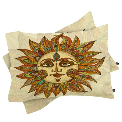 Deepak Helios Pillowcase Size: King