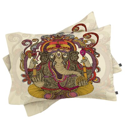 Deepak Lord Ganesh Pillowcase Size: King