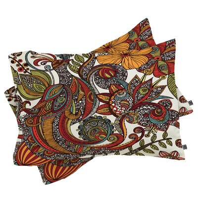 Deepak Paradise Bird Pillowcase Size: King