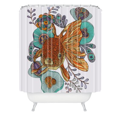 Deepak Little Fish Extra Long Shower Curtain