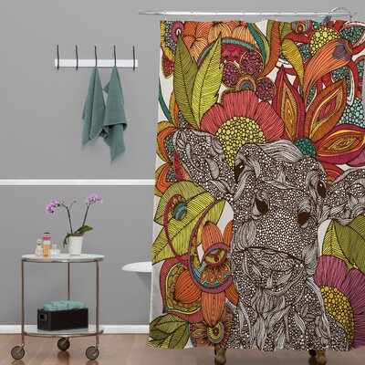 Deepak Arabella and The Flowers Shower Curtain