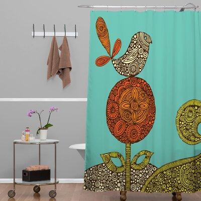 Deepak Bird in The Flower Shower Curtain
