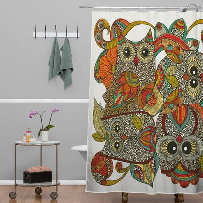 Deepak 4 Owls Shower Curtain