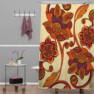 Deepak Boho Flowers Shower Curtain