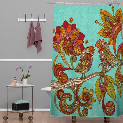 Deepak Hello Birds Shower Curtain