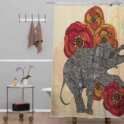 Deepak Rosebud Shower Curtain