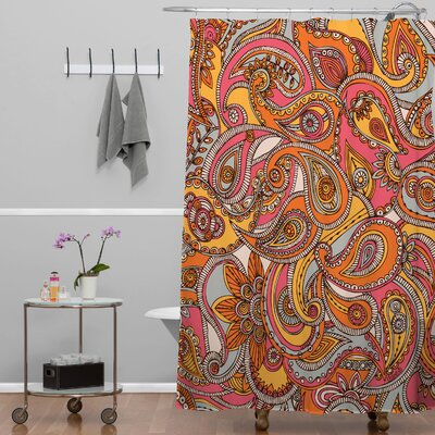 Deepak Spring Paisley Shower Curtain