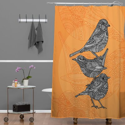Deepak 3 Little Birds Shower Curtain
