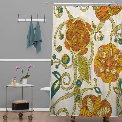 Deepak Flowers Shower Curtain