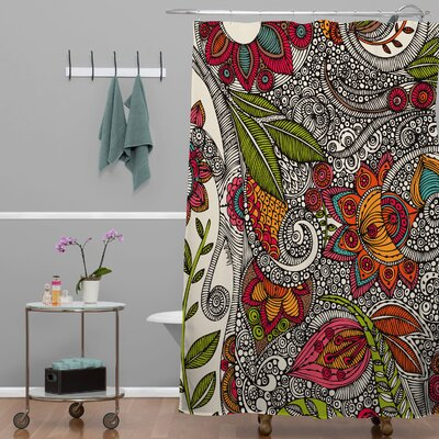 Deepak Random Flowers Shower Curtain
