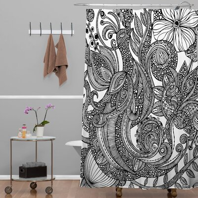 Deepak Bird in Flowers Shower Curtain