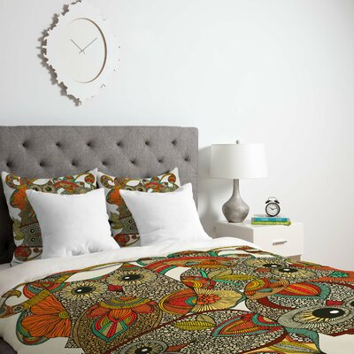 Deepak 4 Owls Duvet Cover Size: Twin, Fabric: Lightweight