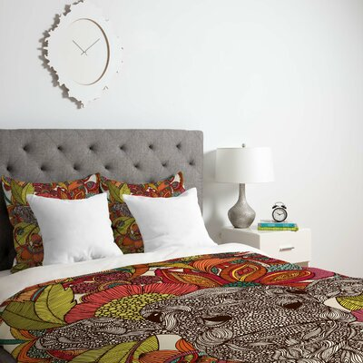 Deepak Arabella and The Flowers Duvet Cover Size: Twin, Fabric: Lightweight
