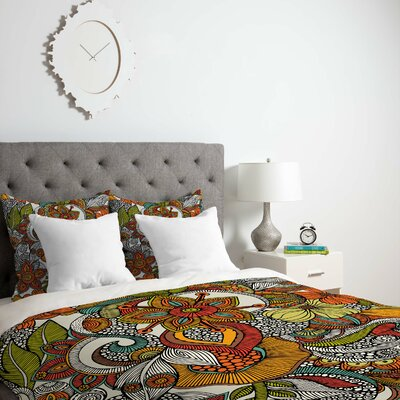 Deepak Ava Duvet Cover Size: Twin, Fabric: Lightweight