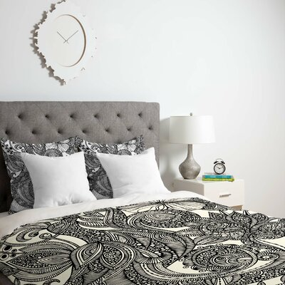 Deepak Bird Duvet Cover Size: Twin, Fabric: Lightweight