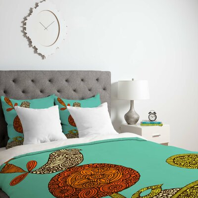 Deepak Bird Duvet Cover Size: King, Fabric: Lightweight