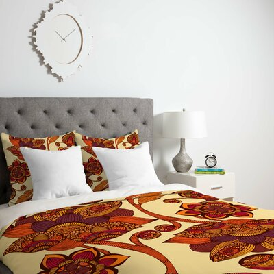 Deepak Boho Flowers Duvet Cover Size: Queen, Fabric: Lightweight
