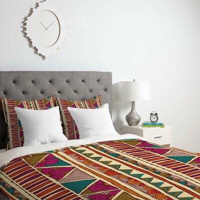 Deepak Ethnic Stripes Duvet Cover Size: Twin, Fabric: Lightweight