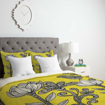 Deepak Garden Duvet Cover Size: King, Fabric: Lightweight