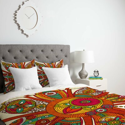 Deepak Liora Duvet Cover Size: Twin, Fabric: Lightweight