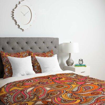 Deepak Spring Paisley Duvet Cover Size: King, Fabric: Lightweight