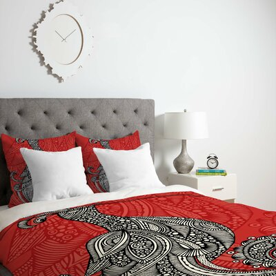 Deepak The Bird Duvet Cover Size: King, Fabric: Lightweight