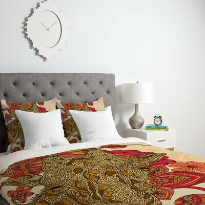 Deepak The Giraffe Duvet Cover Size: Queen, Fabric: Lightweight