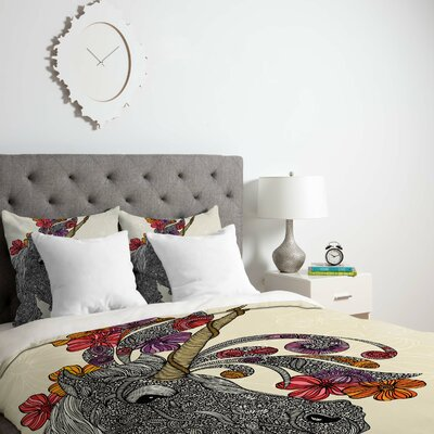 Deepak Unicornucopia Duvet Cover Size: Queen, Fabric: Lightweight