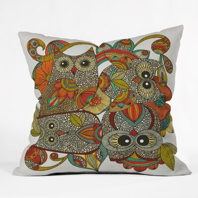Deepak 4 Owls Indoor/Outdoor Throw Pillow Size: 20 W