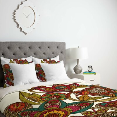 Deepak Garden Ava Duvet Cover Size: Queen, Fabric: Lightweight