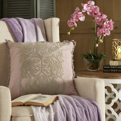 Laguna Cotton Slub Throw Pillow Color: Orchid