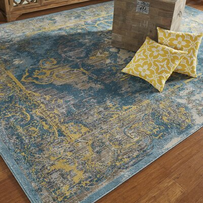 Dimitri Lagoon Area Rug Rug Size: Rectangle 22 x 4