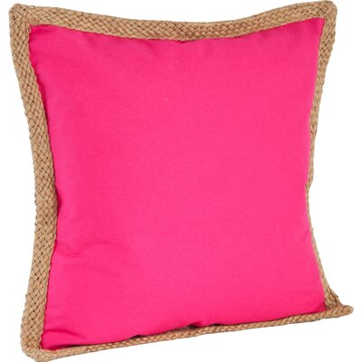 100% Cotton Throw Pillow Color: Fuchsia