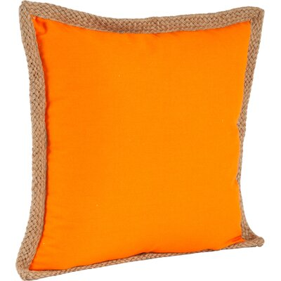 100% Cotton Throw Pillow Color: Persimmon
