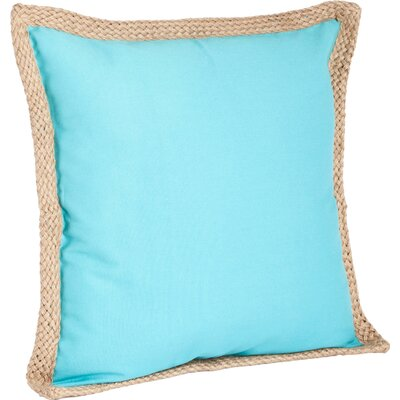 100% Cotton Throw Pillow Color: Turquoise