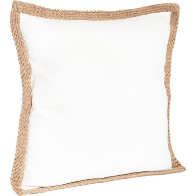 100% Cotton Throw Pillow Color: Ivory