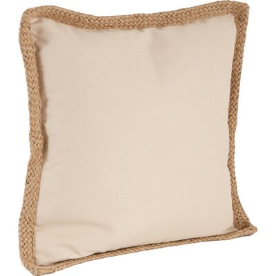 100% Cotton Throw Pillow Color: Natural