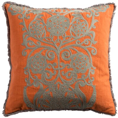 Bourake Cotton Slub Throw Pillow Color: Orange