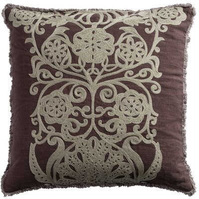 Bourake Cotton Slub Throw Pillow Color: Plum