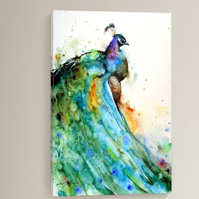 Pheasant Painting Print on Wrapped Canvas