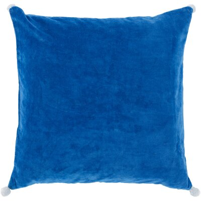 Chinery Throw Pillow Size: 18 H x 18 W x 4 D, Color: Dark Blue, Filler: Down