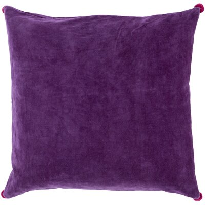 Velvet Cotton Throw Pillow Size: 18