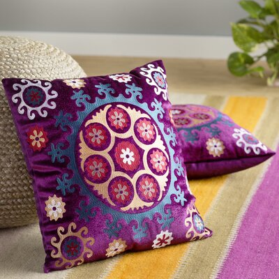 Laurel Throw Pillow Size: 18 H x 18 W