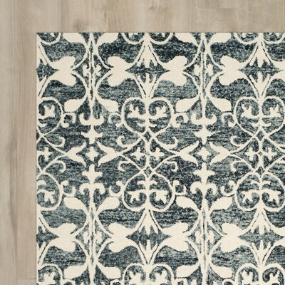 Greenmarket Hand-Tufted Charcoal/Ivory Area Rug Rug Size: Square 5