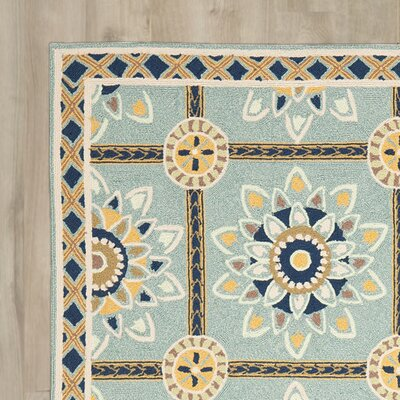 Istanbul Hand-Hooked Light Blue/Dark Blue Area Rug
