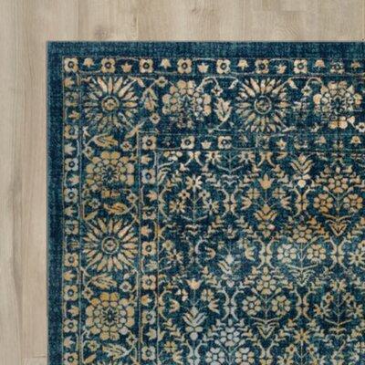Ameesha Navy/Gold Area Rug Rug Size: 9 x 12